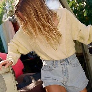 Free People Lemonade Stand Sweater XS